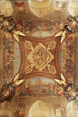 Photograph - Ceiling Art Of The Louvre - 1 by Hany J