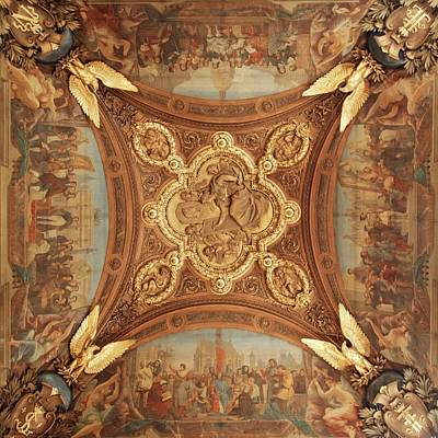 Photograph - Ceiling Art Of The Louvre - 2 - Square by Hany J