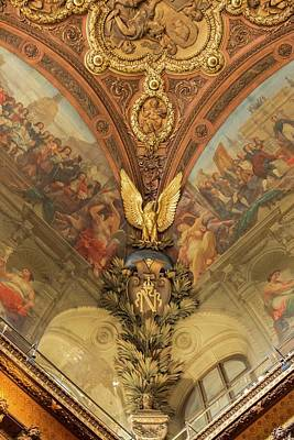 Photograph - Ceiling Art Of The Louvre - 3 by Hany J