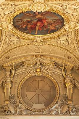 Photograph - Ceiling Art Of The Louvre - 4 by Hany J