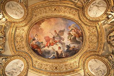 Photograph - Ceiling Art Of The Louvre - 6 by Hany J