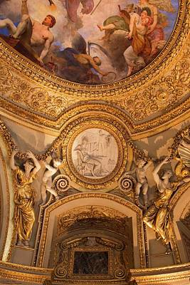 Photograph - Ceiling Art Of The Louvre - 8 by Hany J