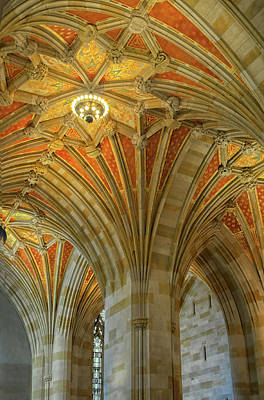Photograph - Ceiling In Sterling Memorial Library by Dave Mills