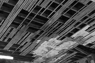 Ceiling Laths Bw Art Print by Jeff Roney