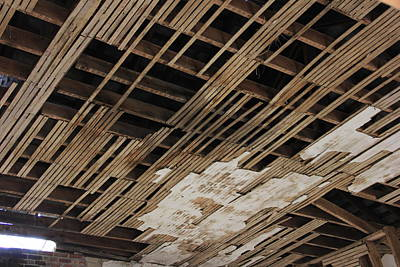 Lath Photograph - Ceiling Laths by Jeff Roney
