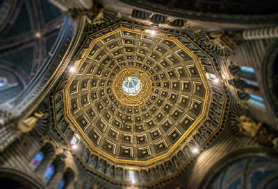 Photograph - Ceiling Of Central Dome On Cathedral by Radoslav Nedelchev