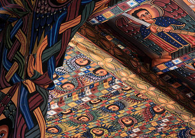 Religious Art Photograph - Ceiling Paintings, Abba Pantaleon Monastery by Aidan Moran