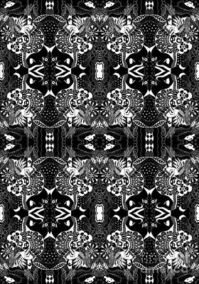 Mixed Media - Ceilings And Floors Variation Inverted by Helena Tiainen