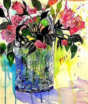 Painting - Cecile Brunner's by Esther Woods