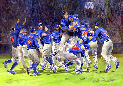 Celebrate Chicago Cubs  World Series Champs Original by Gordon France