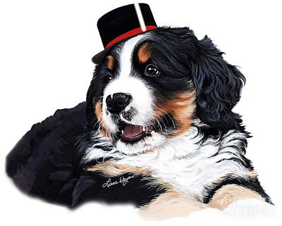 Painting - Celebrate - Bernese Mountain Dog by Liane Weyers
