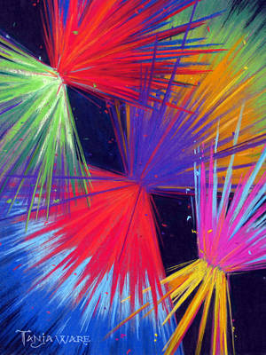Multi Colored Painting - Celebrate by Tanja Ware