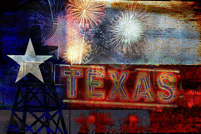 Photograph - Celebrate The Lone Star State Texas by Suzanne Powers