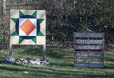 Photograph - Celebrate The Lord Of The Harvest - Barn Quilt Series by Suzanne Gaff
