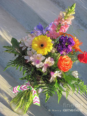 Photograph - Celebrate With A Bright Bouquet by Nancy Lee Moran