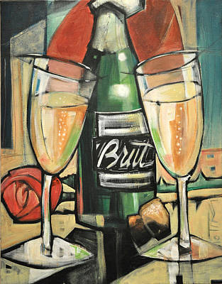 Painting - Celebrate With Bubbly by Tim Nyberg