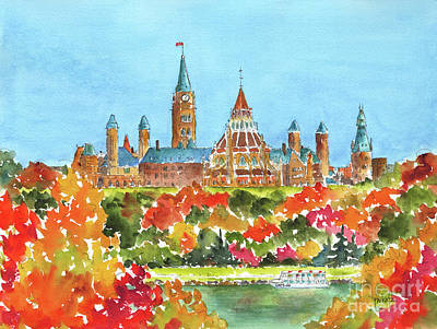 Painting - Celebrating Canada 150 Caps 20 by Pat Katz