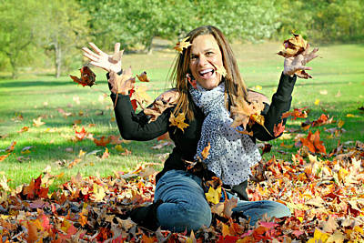 My Friend Photograph - Celebrating Fall by Diana Angstadt