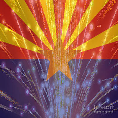 Celebrating Freedom In Arizona Art Print by Beverly Guilliams