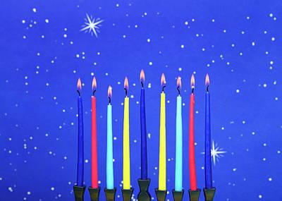 Hanukah Photograph - Celebrating Hanukkah by Sheila Fitzgerald