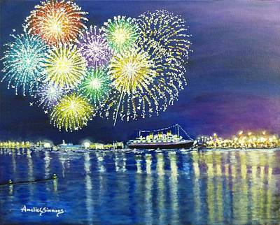 Painting - Celebrating In The Lbc by Amelie Simmons