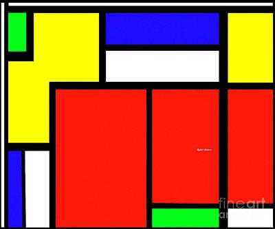 Digital Art - Celebrating Mondrian by Rafael Salazar
