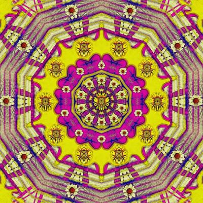 Mixed Media Royalty Free Images - Celebrating summer in soul and mind mandala style. Royalty-Free Image by Pepita Selles