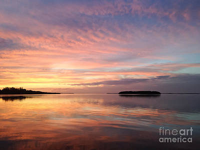 Celebrating Sunset In Key Largo Art Print