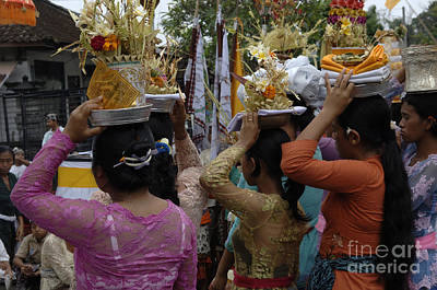 Photograph - Celebration Bali Indonesia 1 by Bob Christopher