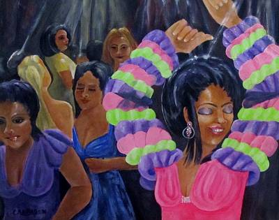 Rumba Painting - Celebration by Carol Allen Anfinsen