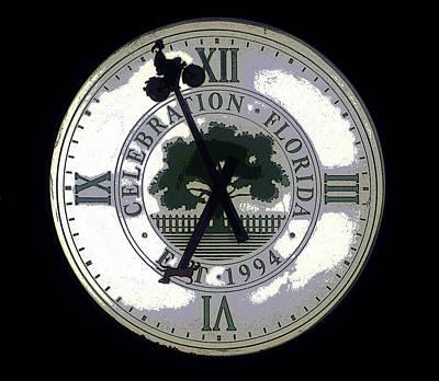 Walt Drawing - Celebration Clock by David Lee Thompson