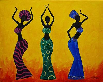 Afrocentric painting celebration by emily page