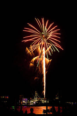 Photograph - Celebration Fireworks by Bill Barber