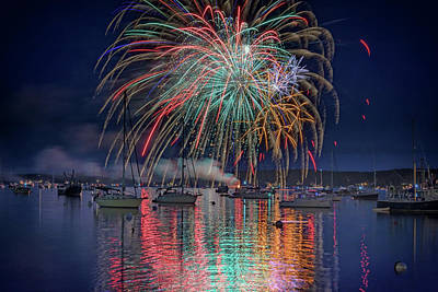 Celebration In Boothbay Harbor Art Print