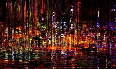 Digital Art - Celebration In The City by Kiki Art