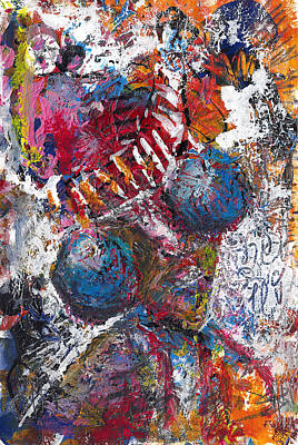 Neo-expressionism Mixed Media - Celebration by Jade Knights