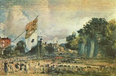 Painting - Celebration Of The General Peace Of 1814 In East Bergholt 1814 by Constable John