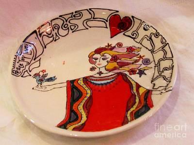 Ceramic Art - Celebration Plate by Lisa Dunn