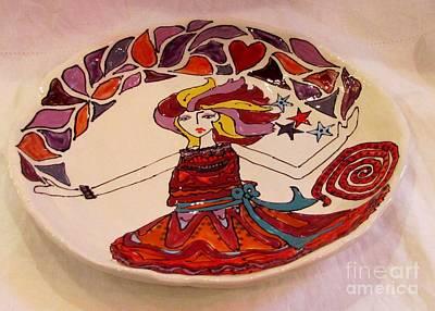 Ceramic Art - Celebration Platter by Lisa Dunn