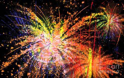 Painted Image Digital Art - Celebration by Richard Rizzo
