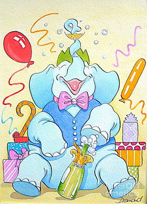 Celebrations Art Print by Debbie  Diamond