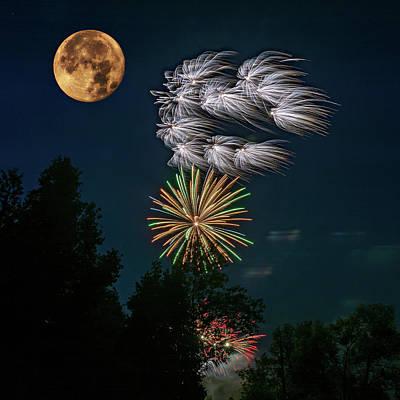 Skyrocket Photograph - Celebrations by Steve Harrington