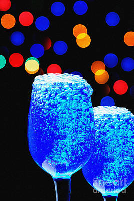 Martini Royalty-Free and Rights-Managed Images - Celebrations With Blue Lagon by Manjot Singh Sachdeva