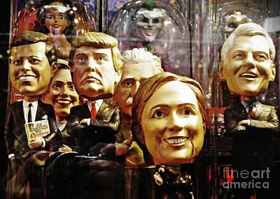 Hillary Clinton Photograph - Celebrity Bobbleheads 1 by Sarah Loft