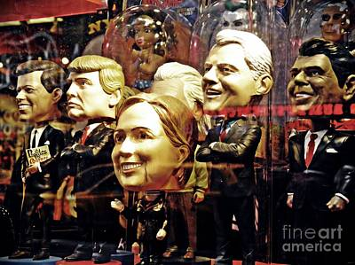 Hillary Clinton Photograph - Celebrity Bobbleheads 2 by Sarah Loft
