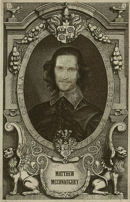 Celebrity Etchings - Matthew Mcconaughey   Art Print by Serge Averbukh