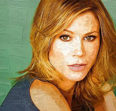Celebrity Julie Bowen  Art Print