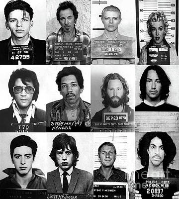 Photograph - Celebrity Mug Shots Of Legends From Movie, Music And Gangsters - Doc Braham - All Rights Reserved by Doc Braham
