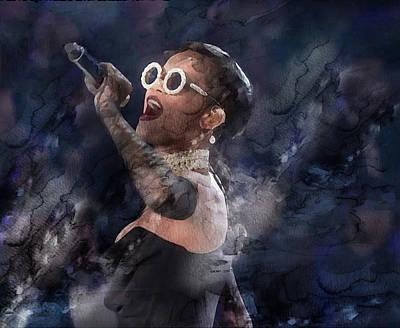 Rihanna Painting - Celebrity / Rihanna by Jani Heinonen