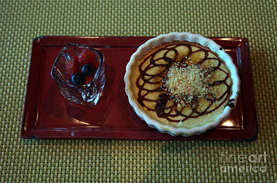 Celebrity Silhouette Creme Brulee Art Print by Ros Drinkwater